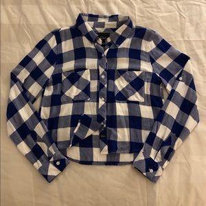 Rails Rian cropped plaid button down shirt